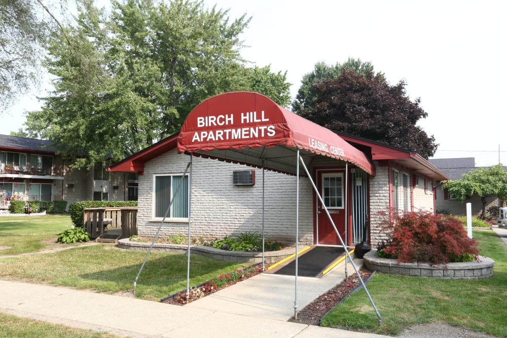 Birch Hill's leasing office in Westland, Michigan