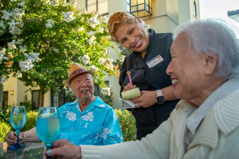 Residents enjoying Anytime Dining at The Pines