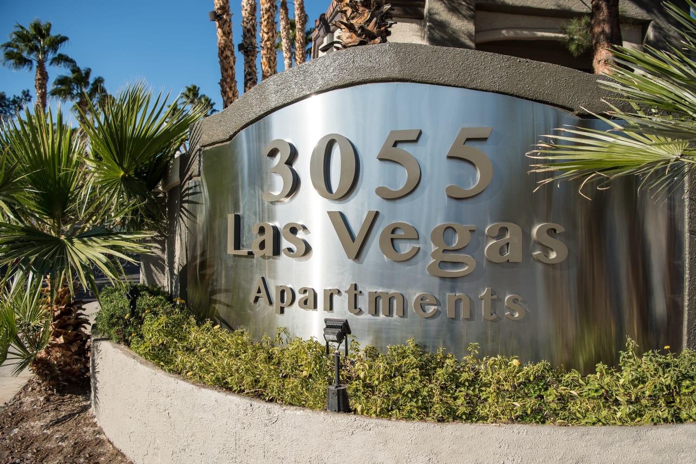 Entrance sign at 3055 Las Vegas in Las Vegas, Nevada