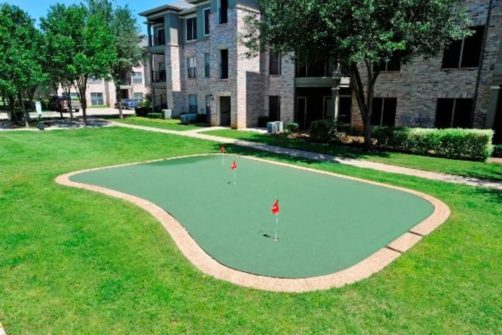 Putting green at The Springs of Indian Creek in Carrollton, Texas