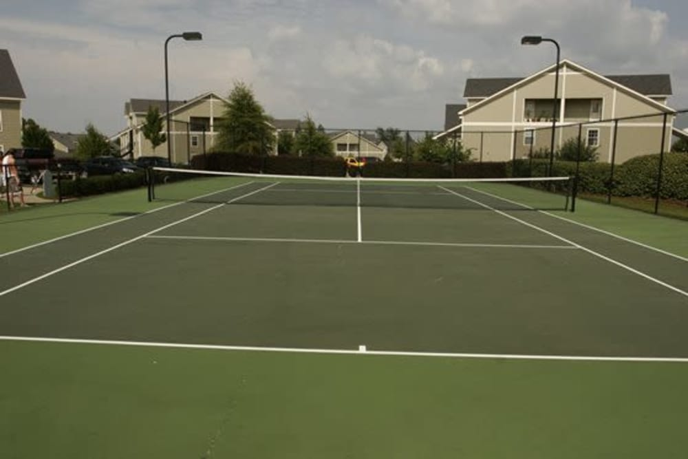 Tennis court at Twin Oaks in Hattiesburg, Mississippi