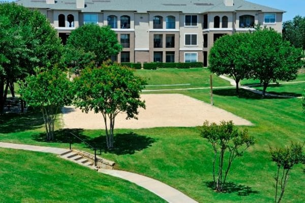 Aerial exterior view of Ballantyne Apartments in Lewisville, Texas