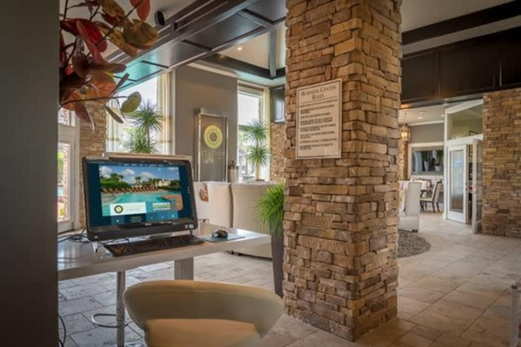 Clubhouse lobby at Station at Mason Creek in Katy, Texas