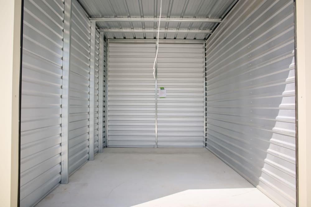Interior of a medium unit at Stor It Self Storage in Porterville, California