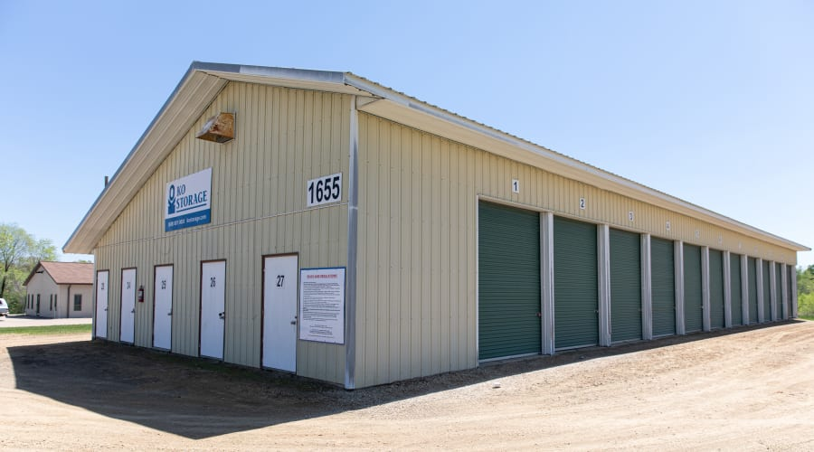 Exterior of outdoor units at KO Storage of Tomah - Townline in Tomah, Wisconsin