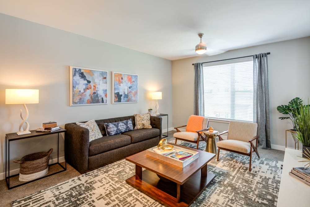 Large and comfortable living room at Flats At 540 in Apex, North Carolina