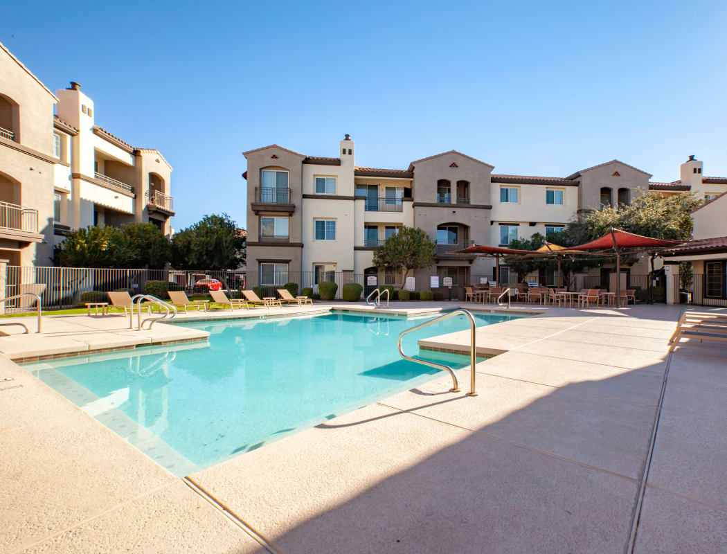 Resort-style pool and spa at Waterford at Peoria in Peoria, Arizona