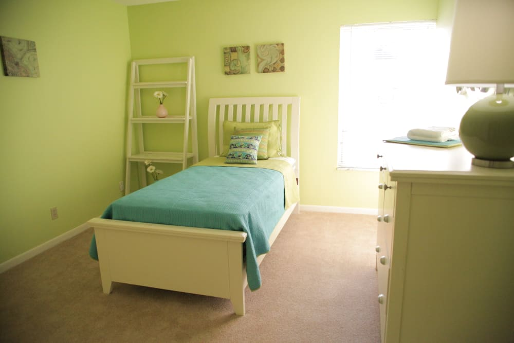 Cozy bedroom at Lime Tree Village