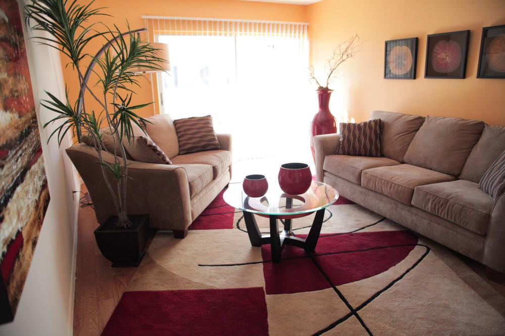 Sun-lit living room at Lime Tree Village