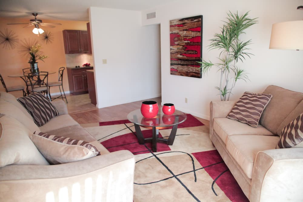 Spacious living room at Lime Tree Village