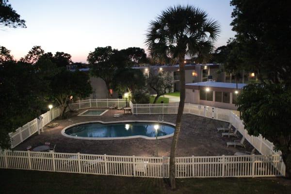 The pool at Lime Tree Village in Deerfield Beach, FL