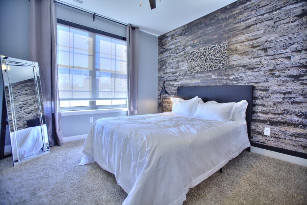 Rendering of a bedroom at Steelyard in St. Louis, Missouri