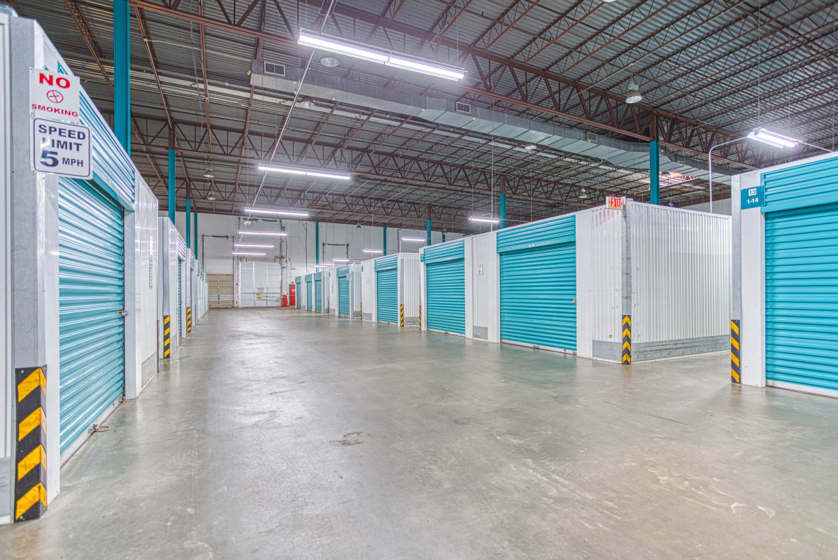 Indoor climate-controlled storage at Devon Self Storage in Charlotte, North Carolina