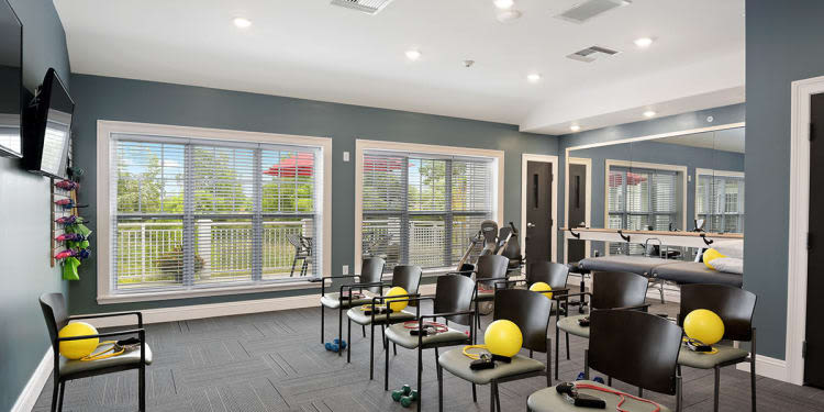 Fitness center at Stonecrest of Rochester Hills in Rochester Hills, Michigan