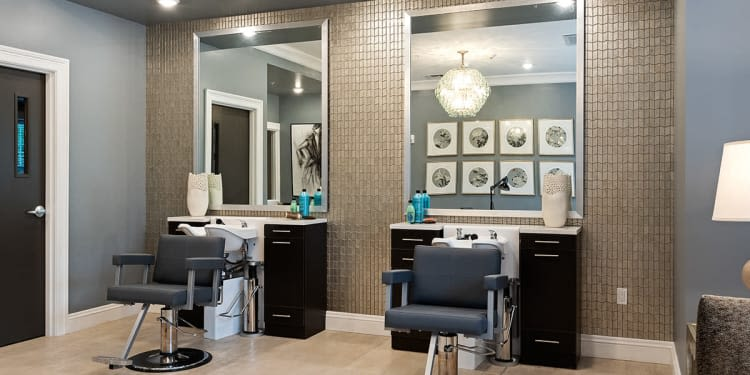 Luxurious salon at Stonecrest of Rochester Hills in Rochester Hills, Michigan