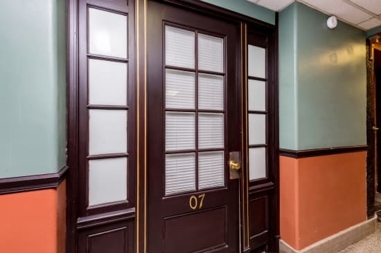 Front door of suite at Concord & Castle in Des Moines, Iowa