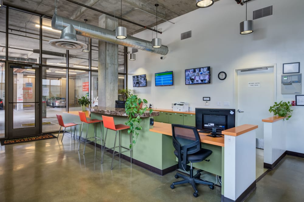 Inside the office at Farmers Market Self Storage in Los Angeles, CA