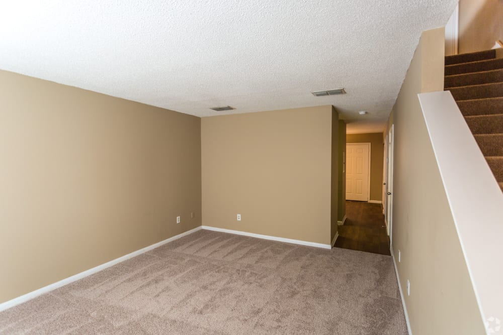 Living room area at Cypress Creek Townhomes