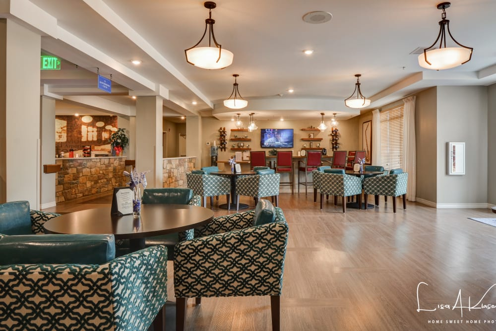 Lounge area at Arcadia Senior Living Clarksville in Clarksville, Tennessee