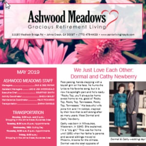 May Ashwood Meadows Gracious Retirement Living newsletter