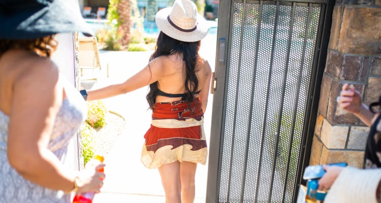 Residents getting outside to enjoy another beautiful day at San Lagos in Glendale, Arizona