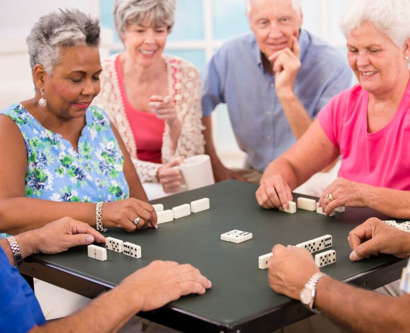 Residents from The Sanctuary at St. Cloud playing a game in St. Cloud, Minnesota