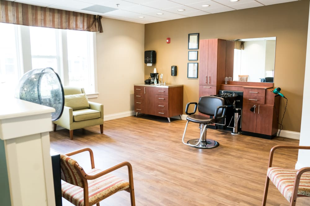 Senior living community with a salon