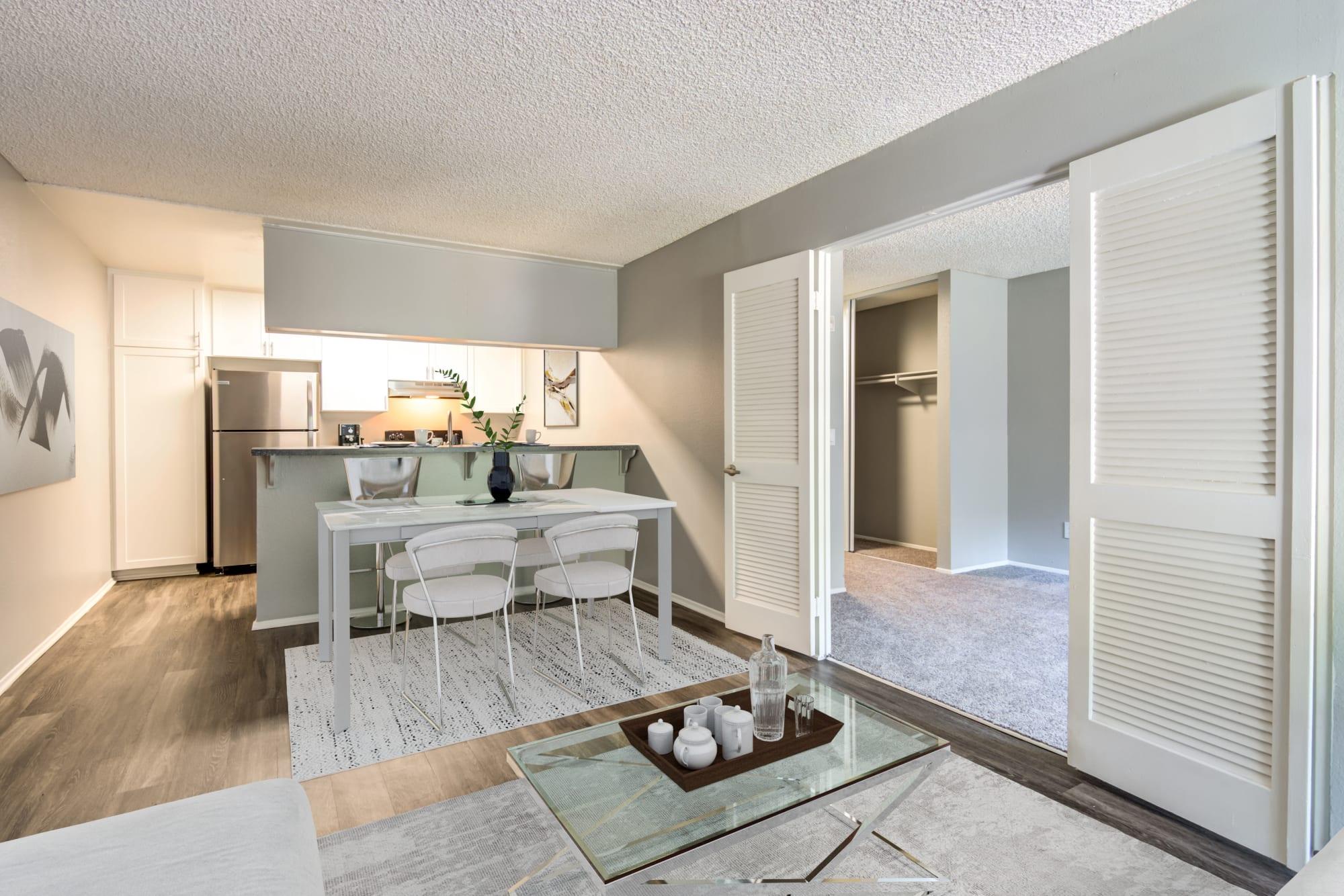 Hardwood-style floors at Hillside Terrace Apartments in Lemon Grove, California