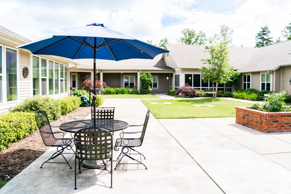 Patio commons at Avenir Memory Care at Little Rock in Little Rock