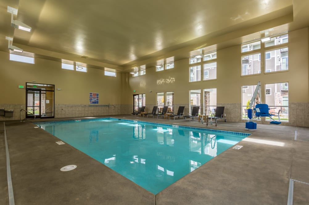 Indoor swimming pool at Affinity at Bellingham in Bellingham, WA