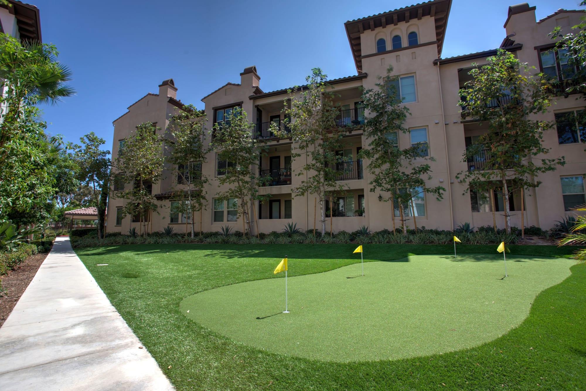 The mini golf course at Palisades Sierra Del Oro in Corona, California