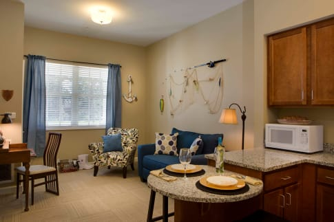 In-Suite Features of homes at Beach House Assisted Living & Memory Care Naples in Naples, Florida
