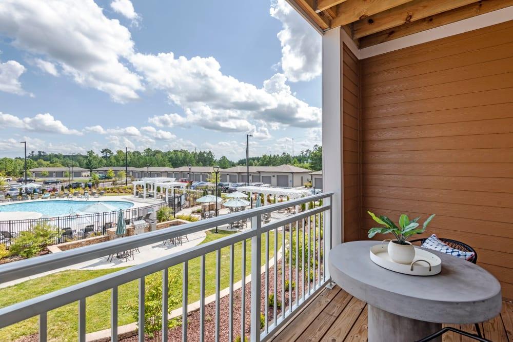 Beautiful balcony at Flats At 540 in Apex, North Carolina