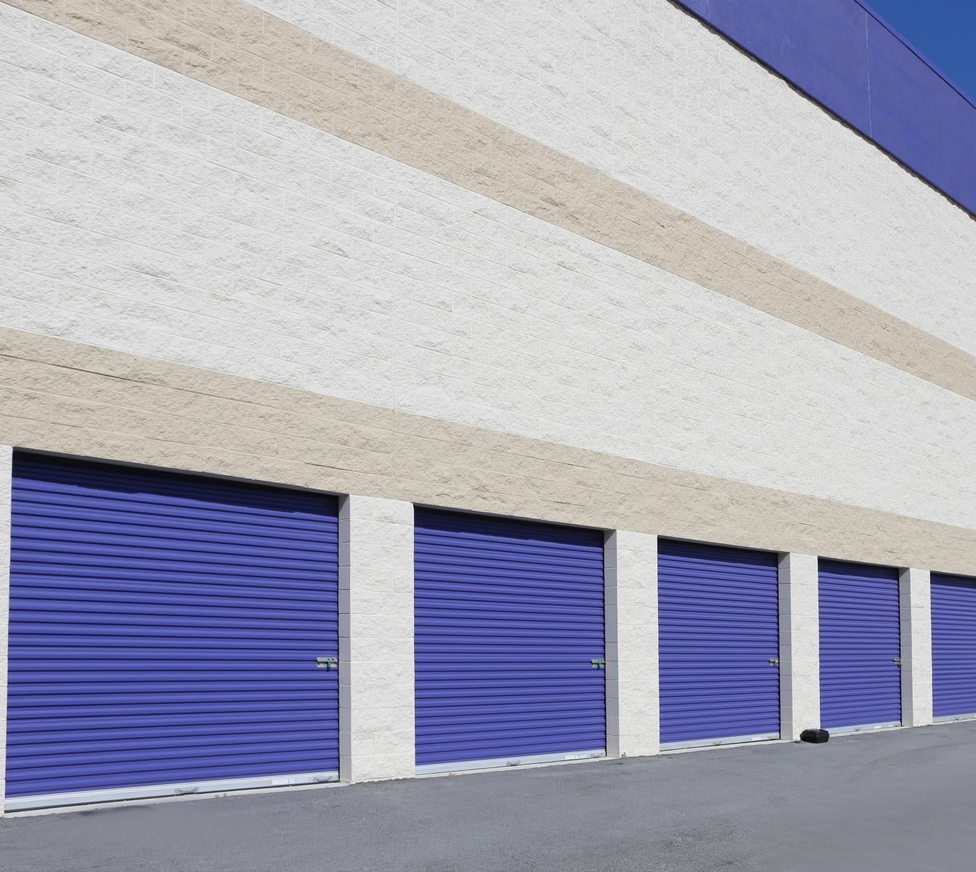 Ground-floor units at StoreSmart Self-Storage in Spring Lake, North Carolina