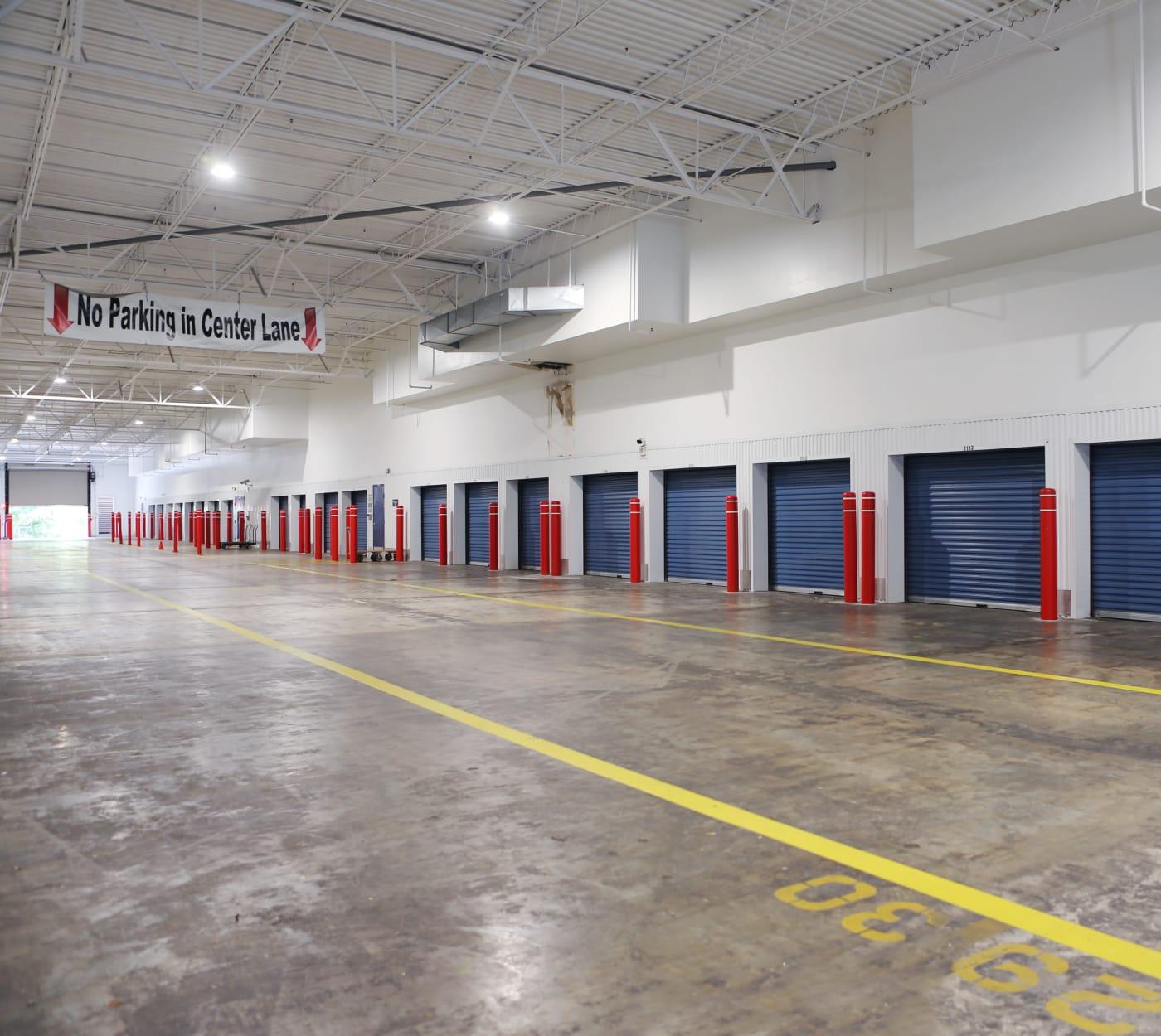 Interior units at Midgard Self Storage in Jacksonville, Florida