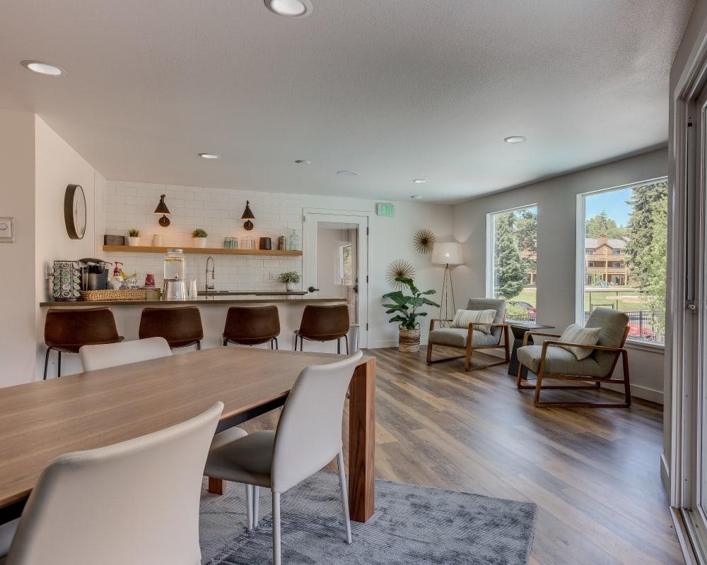Resident clubhouse interior at Sofi Lakeside in Everett, Washington