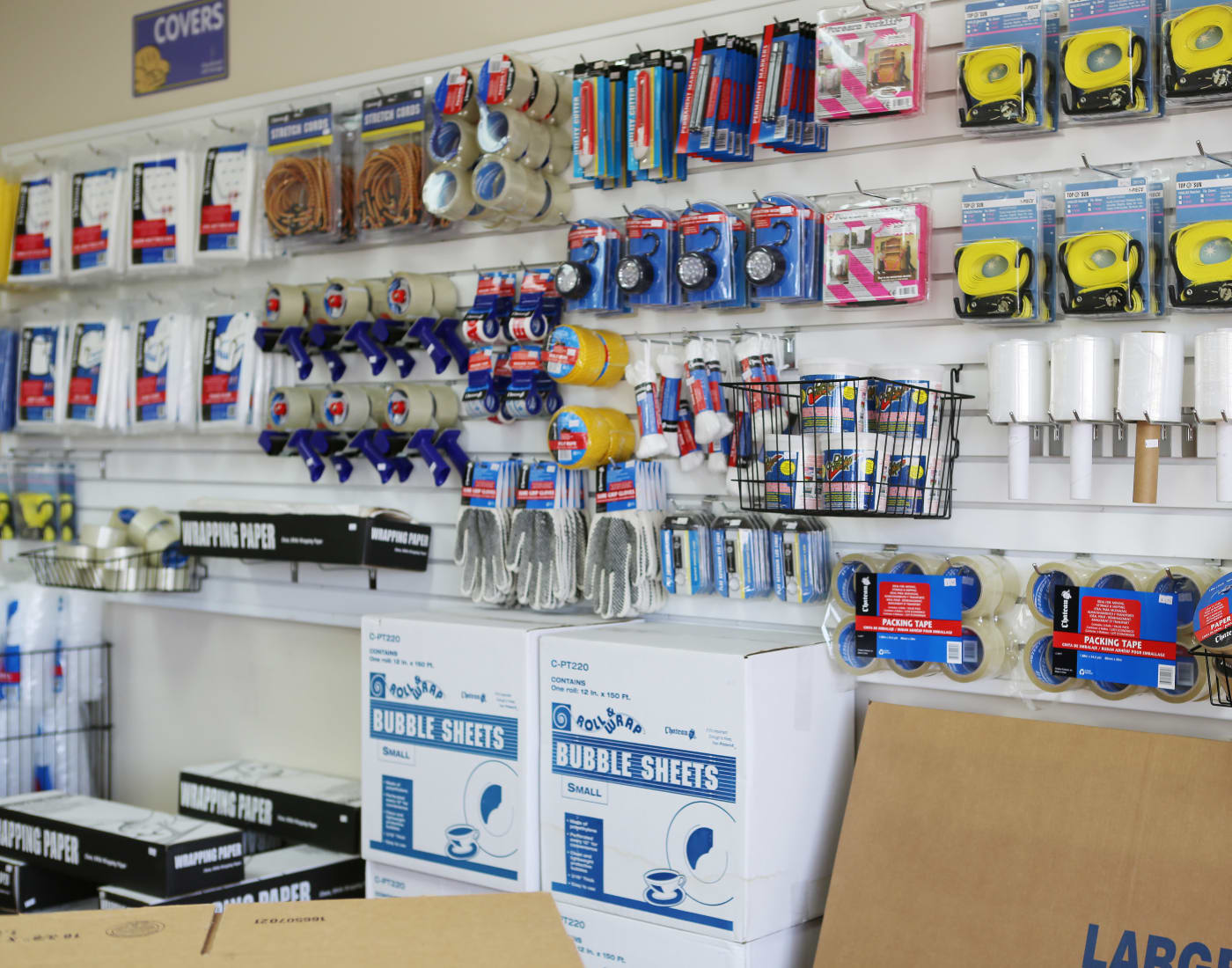 Packing and moving supplies for sale at StoreSmart Self-Storage in Spring Hill, Florida