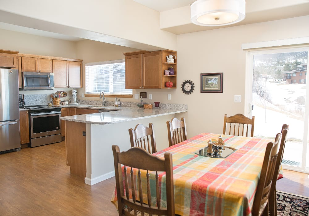 Kitchen in a cottage at Touchmark on Saddle Drive in Helena, Montana