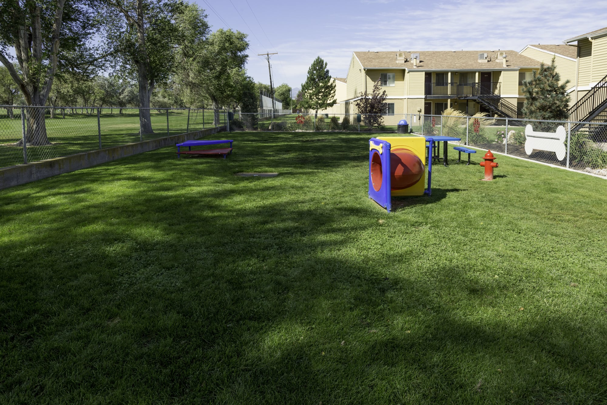 on-site off-leash dog park at Callaway Apartments in Taylorsville, UT
