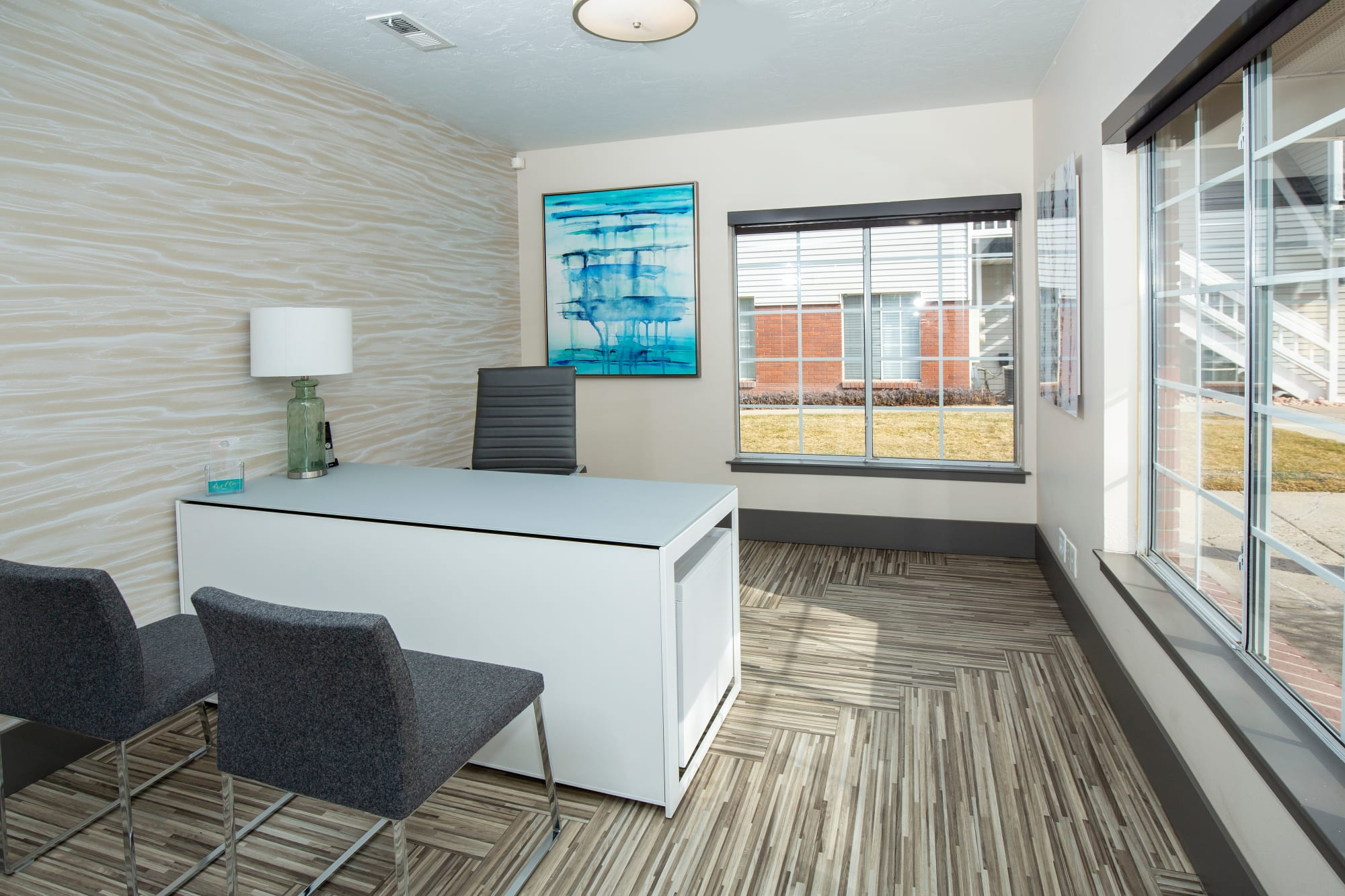 Leasing office at Windgate Apartments in Bountiful, Utah