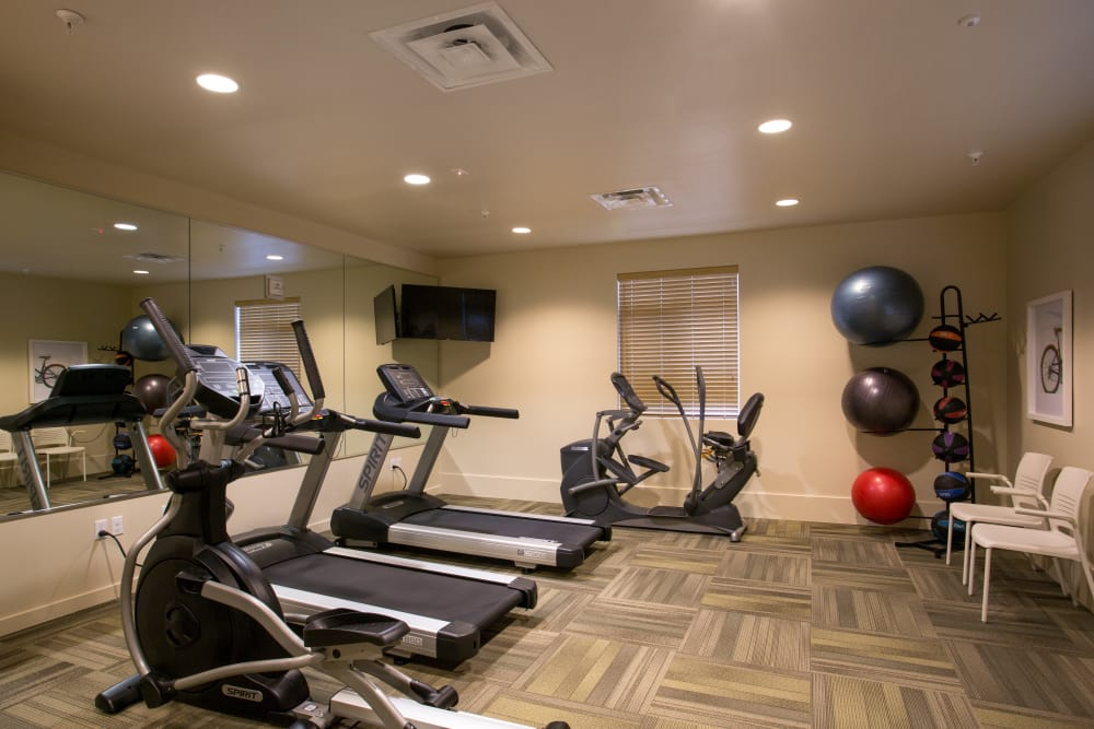 Beautiful fitness center at Affinity at Covington in Covington, WA