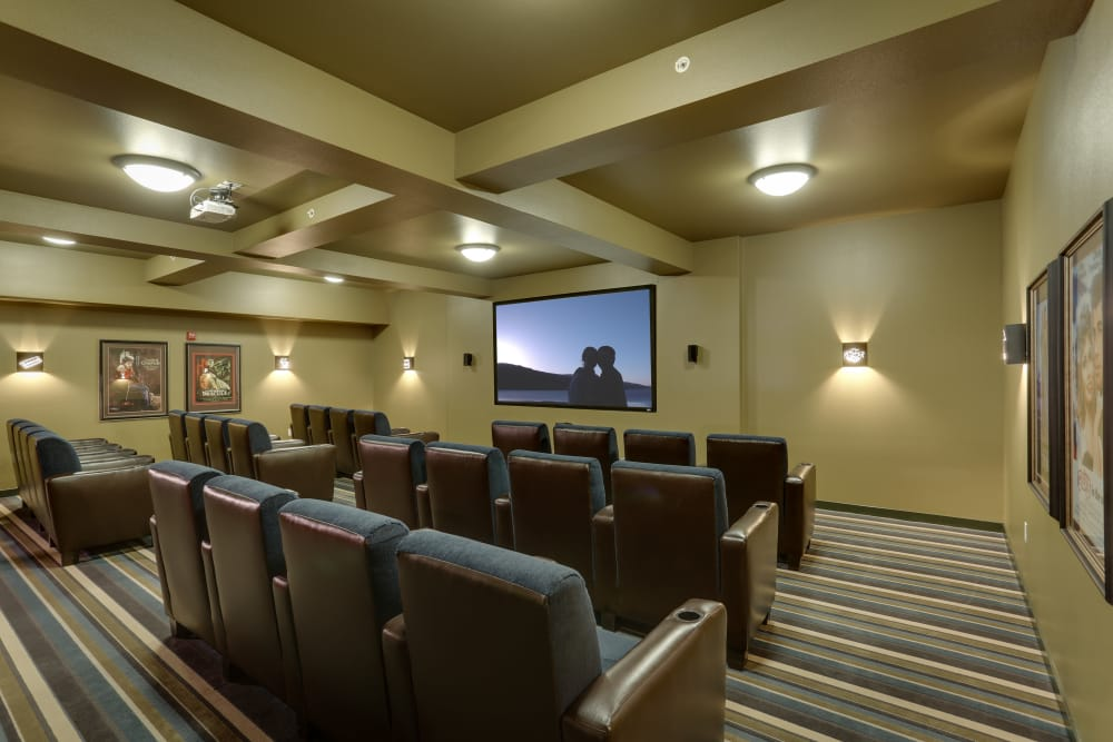 Enjoy a movie theater at Affinity at Billings