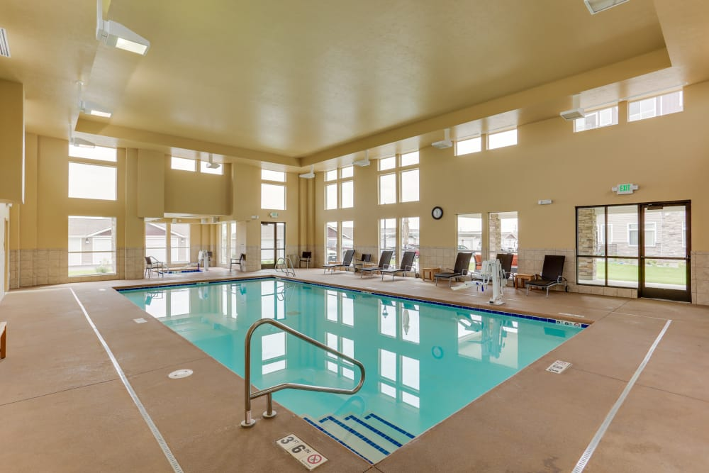 Enjoy the indoor pool at Affinity at Billings