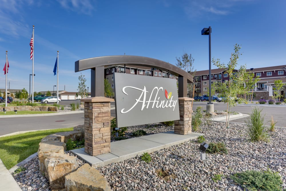 Affinity at Billings welcome sign