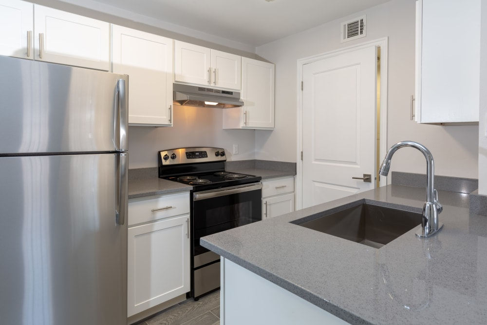 Kitchen at Fairstone at Riverview Apartments in Taylorsville, Utah