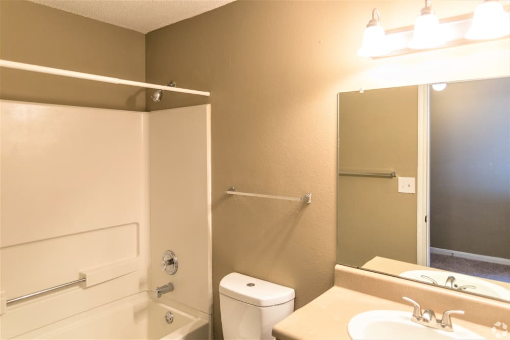 Bathroom layout at Cypress Creek Townhomes