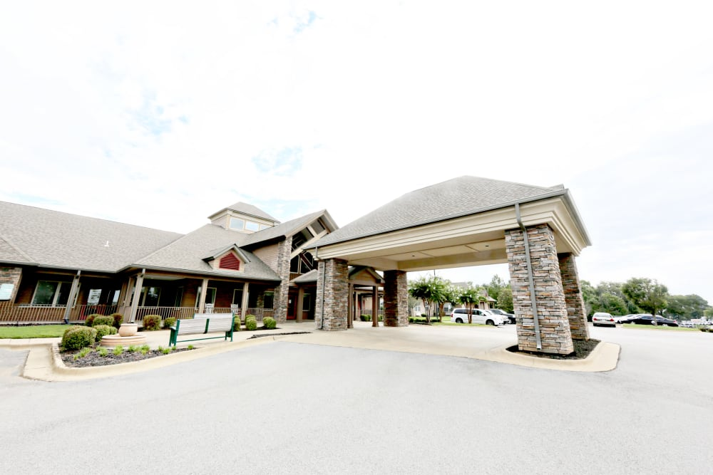 Main entryway at Providence Assisted Living in Searcy, Arkansas