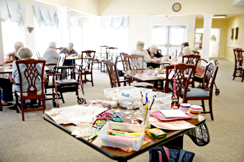 Craft room at Providence Assisted Living in Searcy, Arkansas.