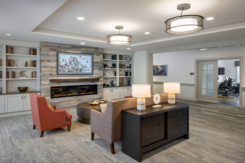 Unique and stylish lounge at Maplewood at Southport in Southport