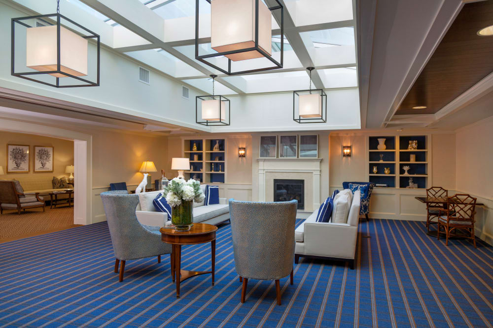 Seating area in the clubhouse at Maplewood at Darien in Darien, Connecticut